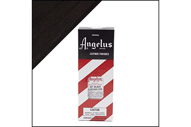 new product 8c91e e0991 Amazon.com  Angelus Brand Leather Dye W applicator - 3 Oz   Jet Black