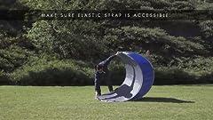 Amazon Com Tailbrella Blue Tailgate Hitch Umbrella Canopy