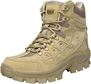 Caopixx Men's Sport Army Tactical Boots Desert Outdoor Hiking Leather Boots Combat Shoes