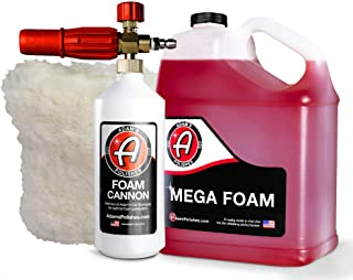 Adam's Foam Cannon Car Wash Kit - Produces Thick, Luxurious Foam - Plush, Synthetic Wool Pad Ensures a Swirl and Scratch Free Wash - Pressure Washer Required (Mega Suds Kit)