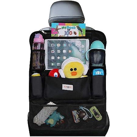 Organizadores para coche, Organizador Asiento Coche, SURDOCA 4 de la generación Organizador Coche niños, Ajuste con [10.5 & 9.7 & 7.9 iPad] Organizador Asiento. Negro,1pc
