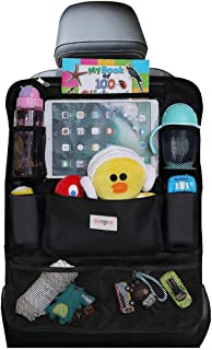 Car Organizer, SURDOCA 4th Generation Enhanced Car Seat Organizer with 10.5'' PVC-Free Tablet Holder, 9 Pockets, Road Trip...