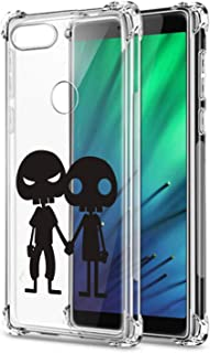 Oihxse Shockproof Case Compatible for Xiaomi Mi 9SE Clear Back with Design, Soft Silicone TPU Ultra Thin Slim Fit Chic [Air Cushion] Corners Protection Crystal Transparent Cover(Robots)