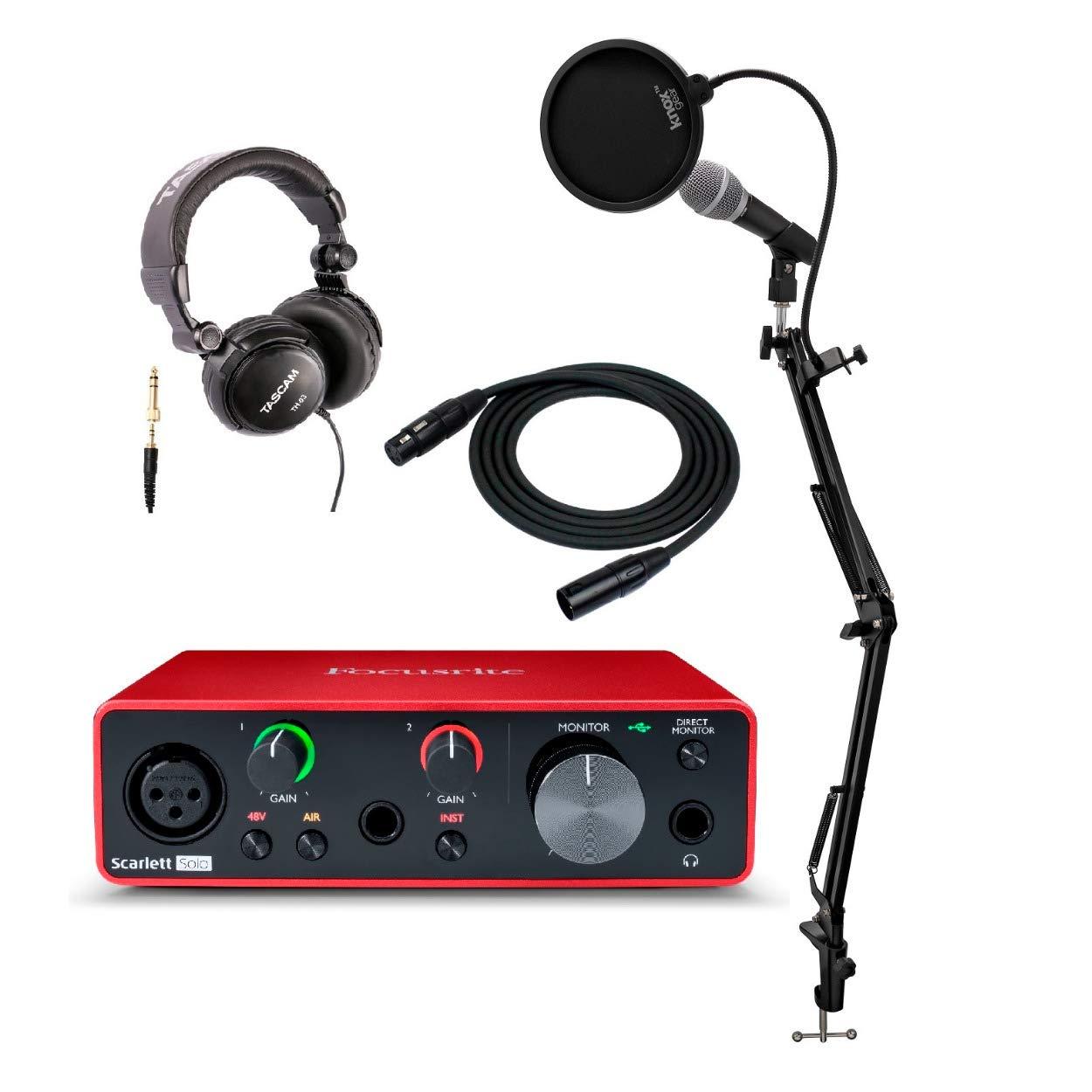 Focusrite Scarlett Interface Microphone Headphones