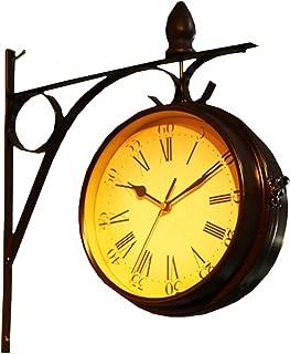 Moana Mahana(モアナマハナ) 両面 掛け時計 壁掛け おしゃれ レトロ 北欧 ヨーロピアン 風 アンティーク クラシック インテリア 雑貨 壁掛け時計