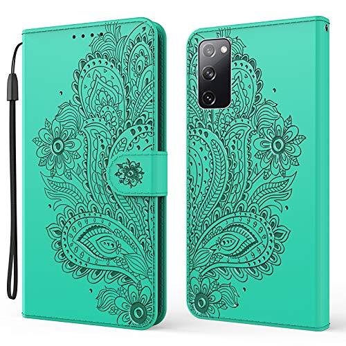 Hülle für Samsung Galaxy S20 FE/Lite 5G Hülle Handyhülle [Standfunktion] [Kartenfach] Schutzhülle lederhülle klapphülle für Samsung Galaxy S20 FE/Lite 5G - DEYX010348 Grün