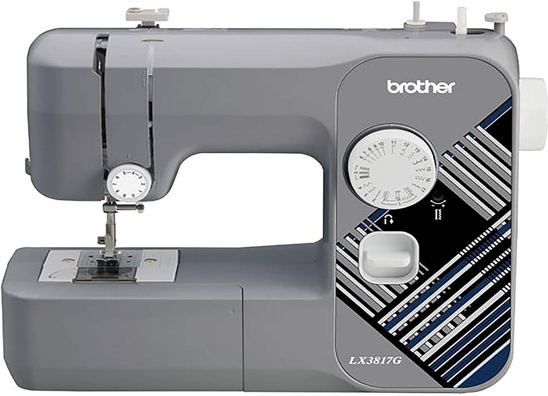 Brother RLX3817G 17-Stitch Sewing Machine Gray Popular brand Brand Cheap Sale Venue in the world Renewed