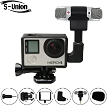 S-Union New Frame Housing Case + External Microphone + Adapter Kit for GoPro Hero 3 4 Replacement Part
