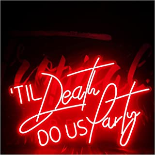 Custom Til Do Us Party Neon Lamp Illuminate Wedding Wall Art Letter Logo Design, Personalized Signs for Home Bar Party LED...
