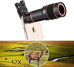 Sponsored Ad - Exxacttorch HD 12X Optical Telescope Camera Lens kit Fisheye Wide Angle 12X Telescope Universal Clip Optica...