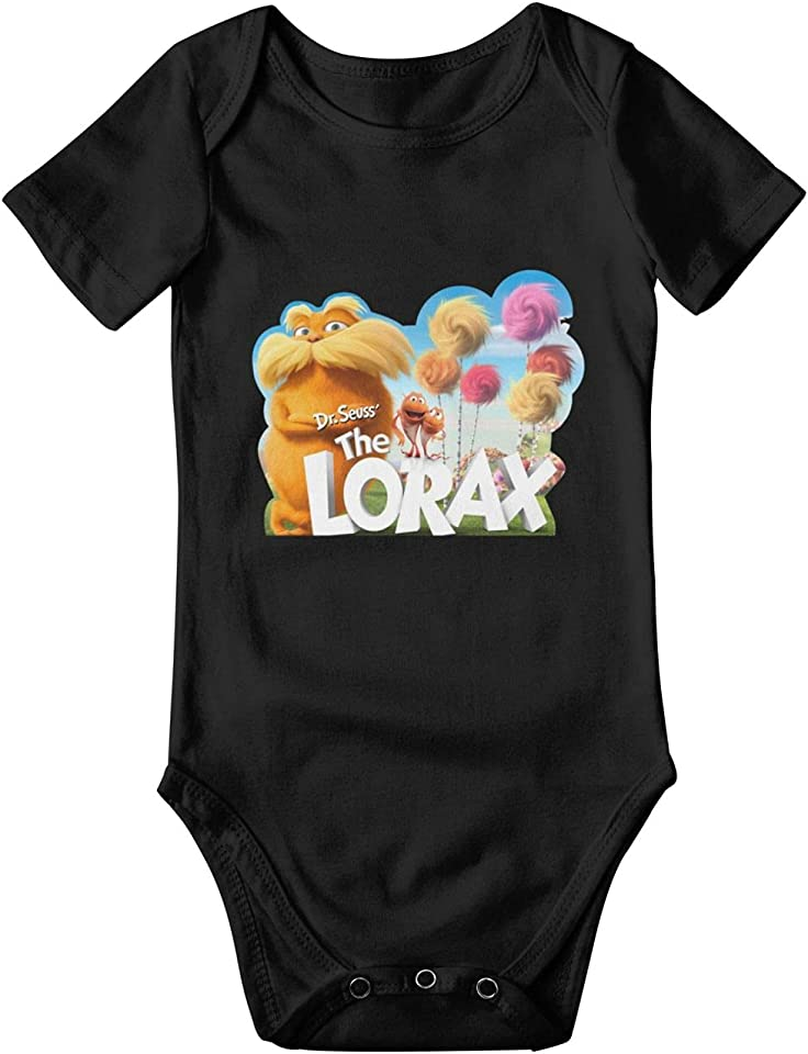 The Lo-Rax Baby Short-Sleeved Rompers Bodysuit Outfit Black