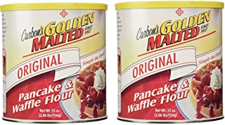 Golden Malted Pancake & Waffle Flour, Original, 33-Ounce Cans (Pack of 2)