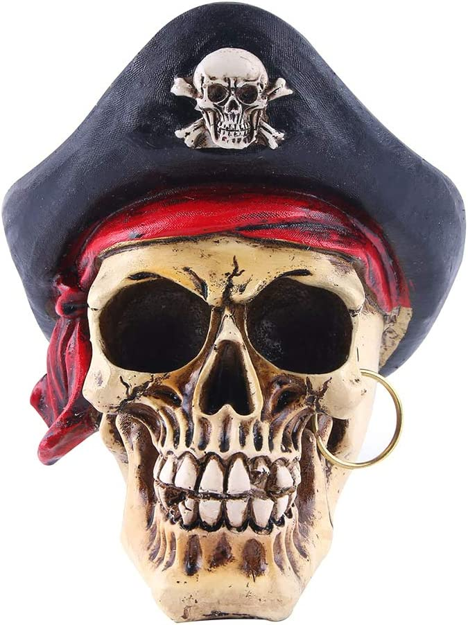 Max 54% OFF BESPORTBLE Horror Pirate Skull Head Grain Ornament Cracked Resin SEAL limited product