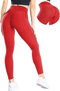 MANIFIQUE Damen Leggings Anti-Cellulite Yogahosen Stretch Hohe Taille Sportleggings Blickdicht Booty Push UP Yogaleggings Lift Sporthose Sexy Bauchkontrolle