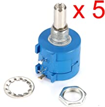 DAOKI 5PCS 3590S-2-103L 10K Ohm BOURNS Rotary Wirewound Precision Potentiometer Pot 10 Turn