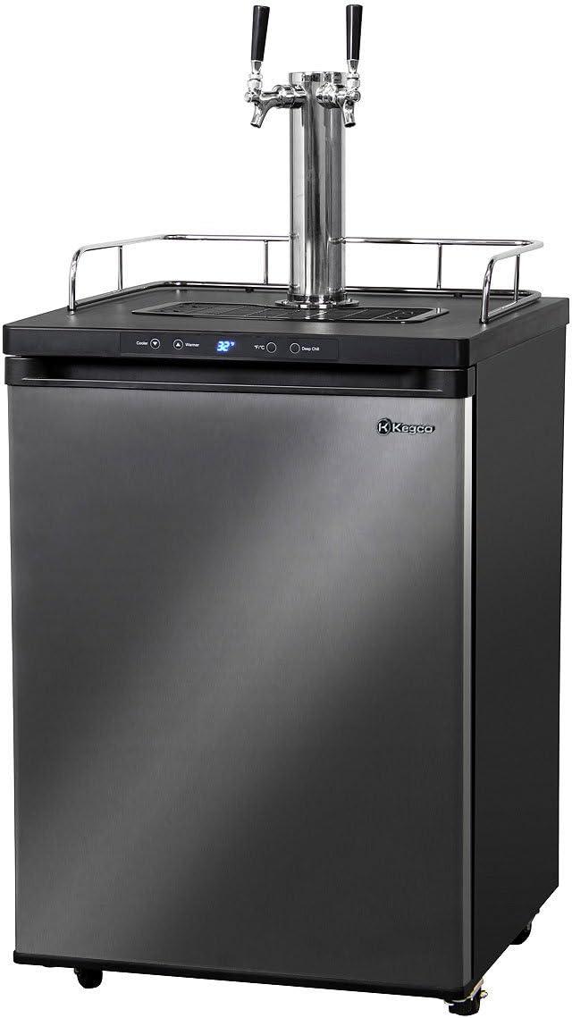 All stores are sold Kegco 3PK309X-2 Keg Dispenser 2 Ultra-Cheap Deals Black Stainless Steel Tap
