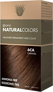 ONC NATURALCOLORS 6CA Caramel Healthier Permanent Hair Color Dye 4 fl. oz. (120 mL) with Certified Organic Ingredients, Ammonia-free, Resorcinol-free, Paraben-free, Low pH, Salon Quality, Easy to Use,