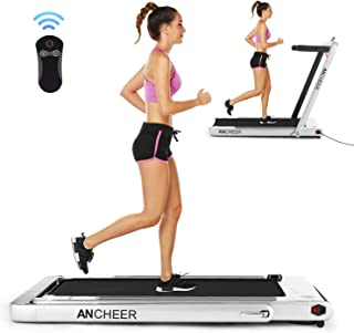 ANCHEER Folding Treadmill, Under Desk Smart Electric Treadmill with Remote Control and Bluetooth Speaker & LCD Monitor, 2 in 1 Walking Running Machine Trainer Equipment for Home Gym - coolthings.us