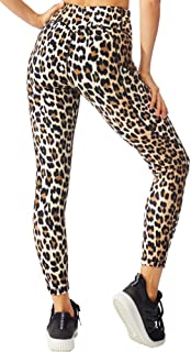 FITTIN Printed Yoga Leggings for Women with Pocket - for Running Sports Fitness Gym