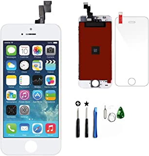 Timetech LCD Compatible for iPhone 6s Plus LCD Touch Screen Replacement Digitizer Display Assembly (6s Plus White)
