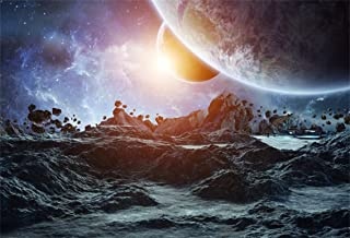 Leyiyi 7x5ft Abstrct Universe Backdrop Planetarium Banner Outer Space Explore Travel Spacecraft Earth Moon Asteroid Photo Background Cowboy Kids Adventure Portrait Shoot Studio Vinyl Prop Wallpaper