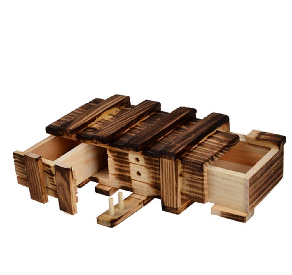 Lomire Caja Mágica de Manera con Dos Mágicos Cajones Secretos de Regalo Interesante Caja Almacenamiento de Joyería Juguete del Rompecabezas Puzzle: Amazon.es: Hogar