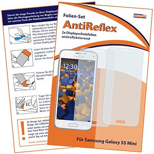 mumbi Schutzfolie kompatibel mit Samsung Galaxy S5 Mini Folie matt, Displayschutzfolie (2X)