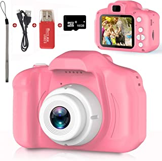 Kids Camera,Children Digital Cameras Kid Action Camera Toddler Video Recorder 1080P IPS 2 Inch,Child Rechargeable Camera w...