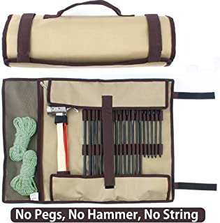TINTON LIFE Heavy Duty Tent Nail and Hammer Storage Bag Oxford Stakes Pegs Pouch Holder Case - Tent Pegs Not Included