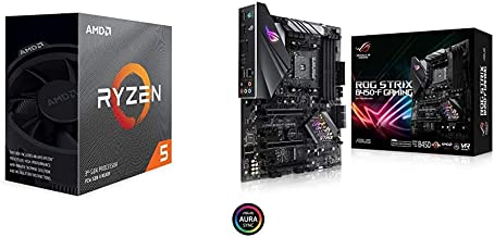 AMD Ryzen 5 3600 6-Core, 12-Thread Unlocked Desktop Processor with Wraith Stealth Cooler with B450-F Gaming Motherboard (ATX)