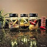 Gadgy ® Solarglas Einmachglas | Set 3 Stück mit 5 LED's | Warmweiß Licht | Solar Lampe für Außen | Garten Laterne - 3