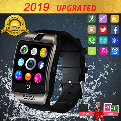 Smartwatch Android, Bluetooth Smart Watch, Smart Orologio Cellulare Android, Impermeabile Orologio Intelligente con Camera SIM Card Slot Per Phone X XS XR 5 ios Samsung Huawei Uomo Donna