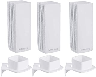 For Linksys Wall Mount Bracket by Koroao Wall Mount Ceiling Stand Holder for Linksys Velop Tri-band Whole Home WiFi Mesh S...