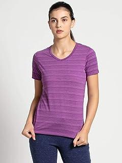 Jockey AW10-0103 Women's Athleisure T-Shirt, X-Large, Purple Glory
