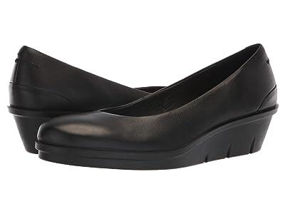 ECCO Skyler 45 Wedge Slip-On (Black Cow Leather) Women