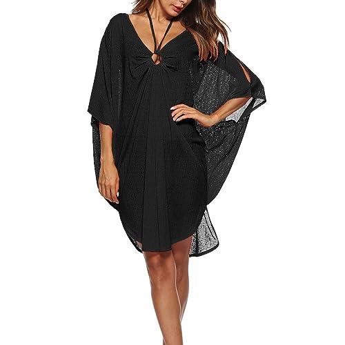 97f0011985a9 Brezeh Women Beach Cover Up, Womens Loose Beachwear Swimwear Bikini Cover-up  V-