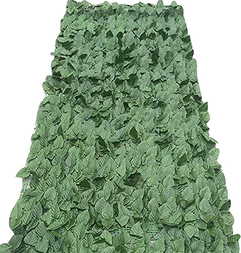Fence Privacy Screen Artificial Leaf Fence Polyester Leaf Breathable Stage Backgrounds Porches Wooden Fences Garden Privacy Fence Ivy Hedge Balcony Privacy Screen Garden Fence Decorations(Color:Green;