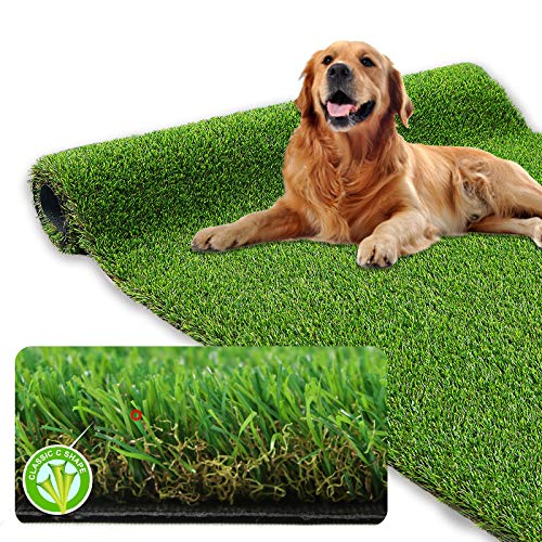 XLX TURF Realistic Artificial Grass Rug Indoor Outdoor - 3ft x 5ft, Thick Synthetic Fake Grass Dog Pet Turf Mat for Garden Lawn Landscape