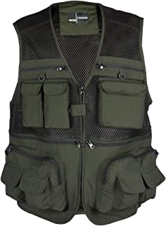 Rainbow Finch Fly Fishing Photography Vest with Pockets Men's Mesh Quick-Dry Waistcoat Outdoor Jackets for Travelers