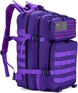 Ssszx Mochila táctica militar para hombre, 45 l, mochila táctica militar, mochila de ataque molle, impermeable, para camping, caza, senderismo, viajes