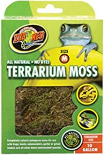 Zoo Med Terrarium Sphagnum Moss Cage Substrate Complete Natural No Dyes 10gal