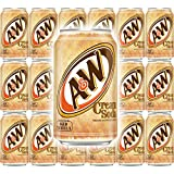 A&W Cream Soda, Made With Aged Vanilla, 12 Fl Oz Can, (Pack of 18, Total of 216 Fl Oz)
