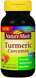 Nature Made Tumeric Capsules 500 Mg, 60 Count , Pack of 4