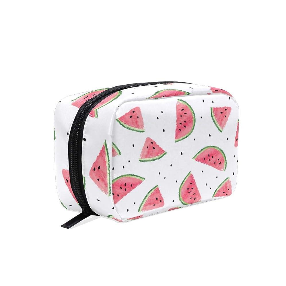 UOOYA おしゃれ 化粧ポーチ スイカ フルーツ柄 Watermelon 軽量 持ち歩き メイクポーチ 人気 小物入れ 収納バッグ 通学 通勤 旅行用 プレゼント用