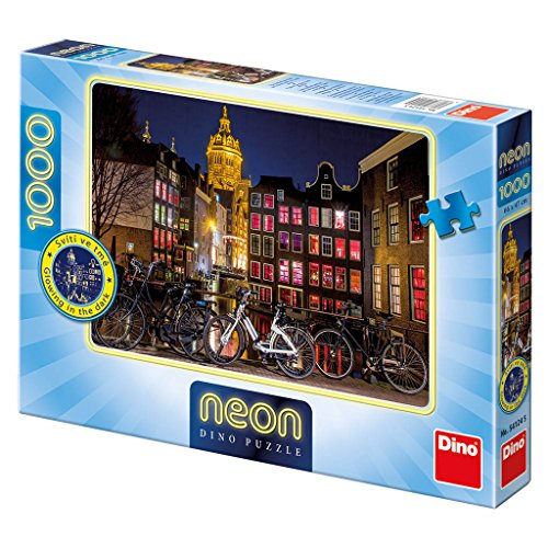 Dino Giocattoli 541245Amsterdam at Night Neon Jigsaws Puzzle