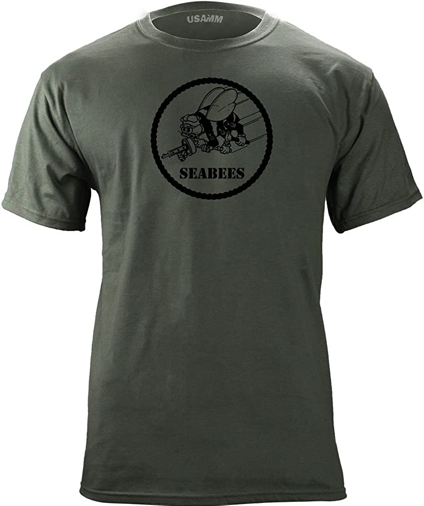 Minneapolis Mall USAMM Officially Licensed Navy Seabees Veteran Patch Max 45% OFF T-S Subdued
