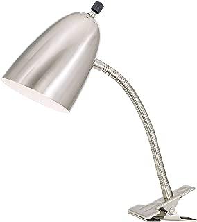 Brushed Nickel Adjustable Gooseneck Arm Headboard Clip Lamp - Pro Track