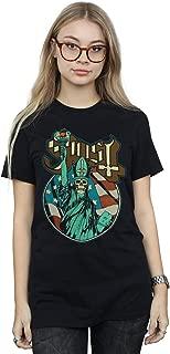 Ghost Women's Statue of Liberty Boyfriend Fit T-Shirt