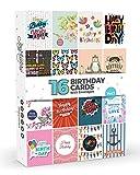 Lot de 16 Cartes Joyeux Anniversaire Vol. 1 Par Joy Masters™ | Grand Format Avec Enveloppes Pour Hommes Et Femmes