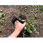 Bear Paws Cultivator Claw - Ergonomic Gardening Tools - Hand Held Garden Tool - Hand Rake - Strong Nylon Weeder - Manual… 13 ERGONOMIC - The Bear Paws Cultivator Claw design allows for natural movement which reduces hand and arm fatigue. Because your fingers are free, picking out rocks and weeds without ever setting it down is a breeze SHARP CLAWS: Great for breaking up soil, weeding and removing unwanted debris in your flower bed or garden DURABLE - Traditional metal hand tools are replaced with our tough and ultra strong nylon. For a durable gardening tool, you can't beat the Cultivator Claw garden tool